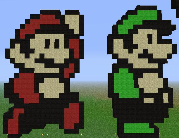 Minecraft Mario And Luigi By Unstable Life On Deviantart