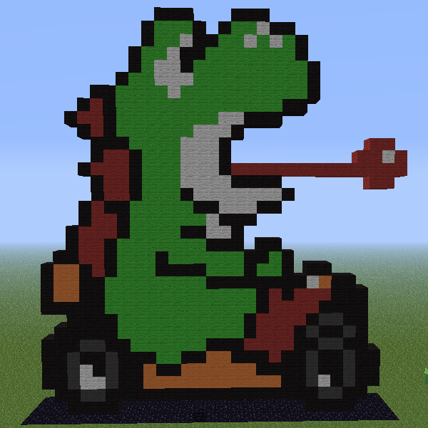 Minecraft - Yoshi - Mario Kart by Unstable-Life on DeviantArt