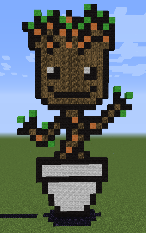 Minecraft Groot By Unstable Life On Deviantart