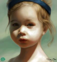 Portrait of a Small Girl by raisaoren
