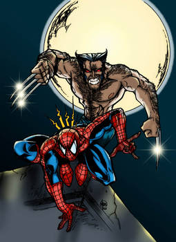 Wolverine and Spiderman