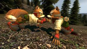 Gekkering Foxes