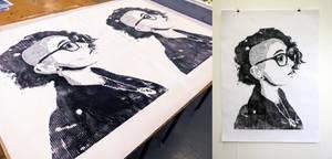 Selfie Print by artofpan