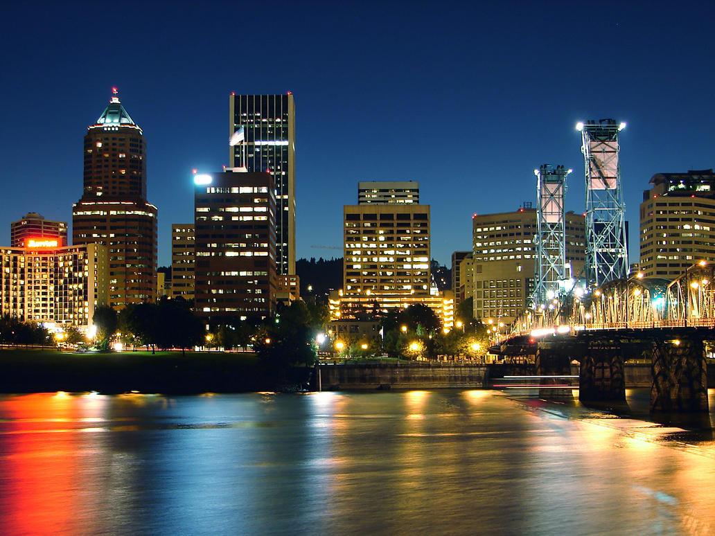 Portland at Night II by cbrfreak
