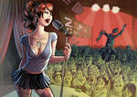 This girl sings for Zombies