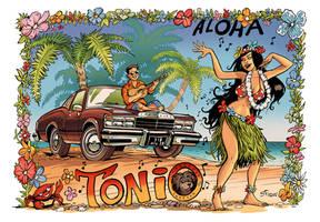 Hula girl for Tonio by serge-fiedos