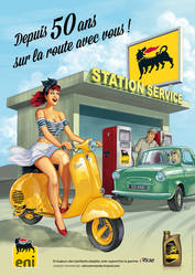 Pinup poster for Eni France by serge-fiedos