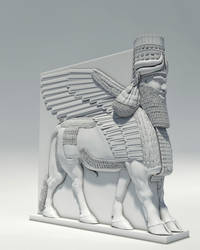 Assyrian Winged Bull by antropixa