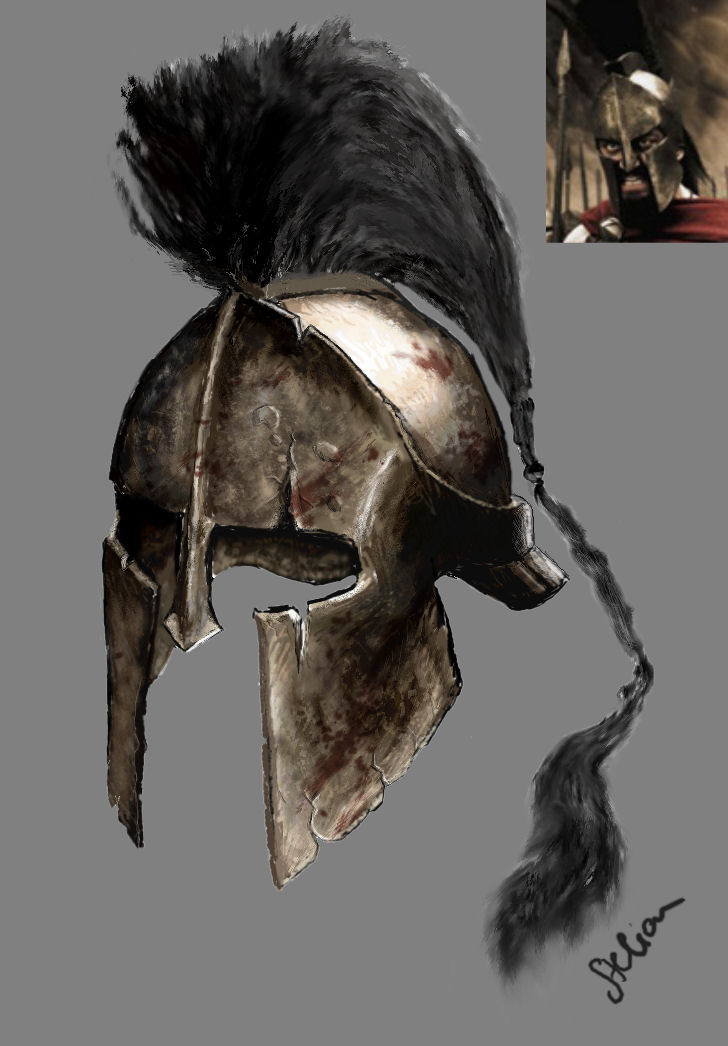 300: Helm of Leonidas by dimastelian