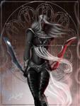 Dark Warrior Elf by keelerleah