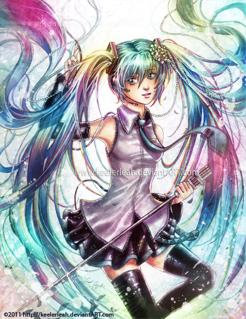 Vocaloid - Here's Miku- by keelerleah