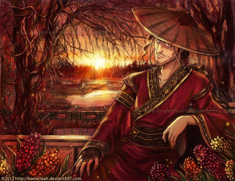 Bleach - Shunsui Kyoraku - by keelerleah