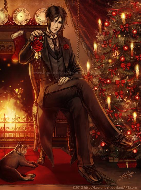 A Kuroshitsuji Christmas- Sebastian by keelerleah