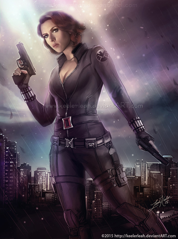 Black Widow Avengers Paintings