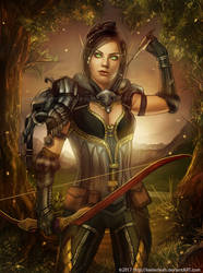 Wow: Hunter in the Woods by keelerleah