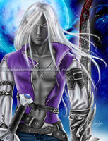 Drizzt in the Moon Light by keelerleah