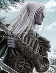 Drizzt flees the Hunter