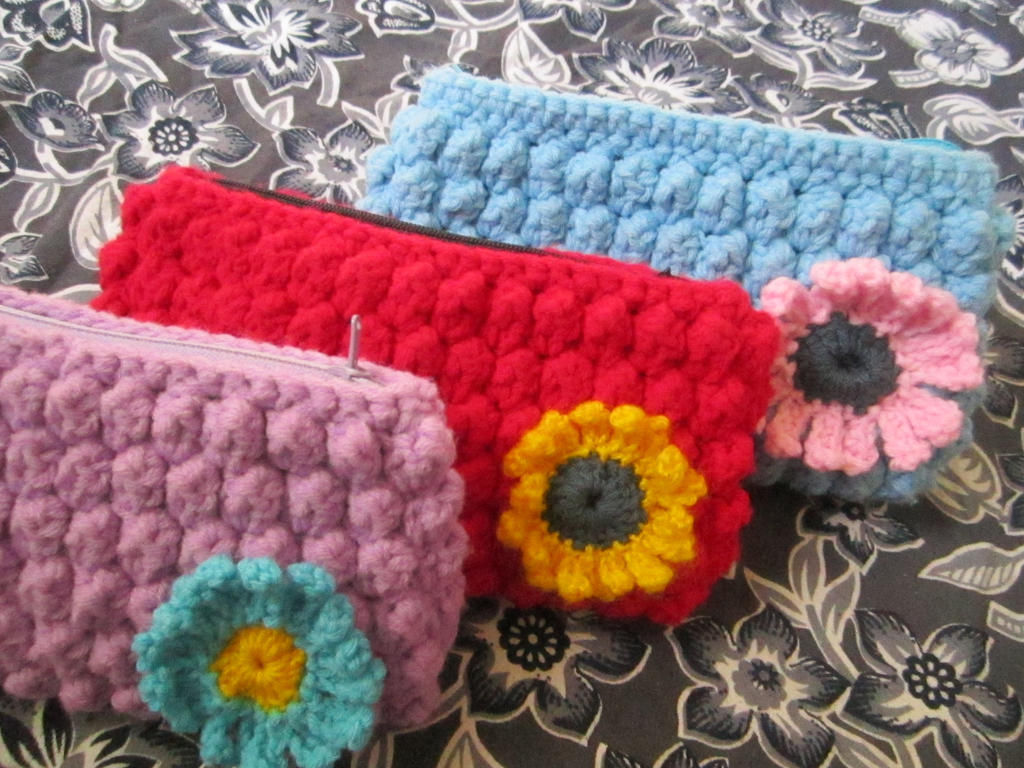 Crochet Stitches Bobble : Bobble stitch crochet clutch by Anitadoma on DeviantArt