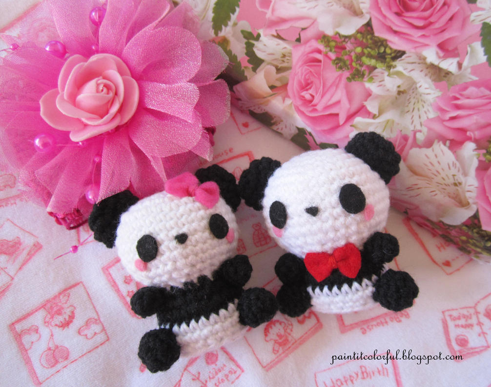 Amigurumi Free Pattern Couple : Amigurumi Panda couple by Anitadoma on DeviantArt