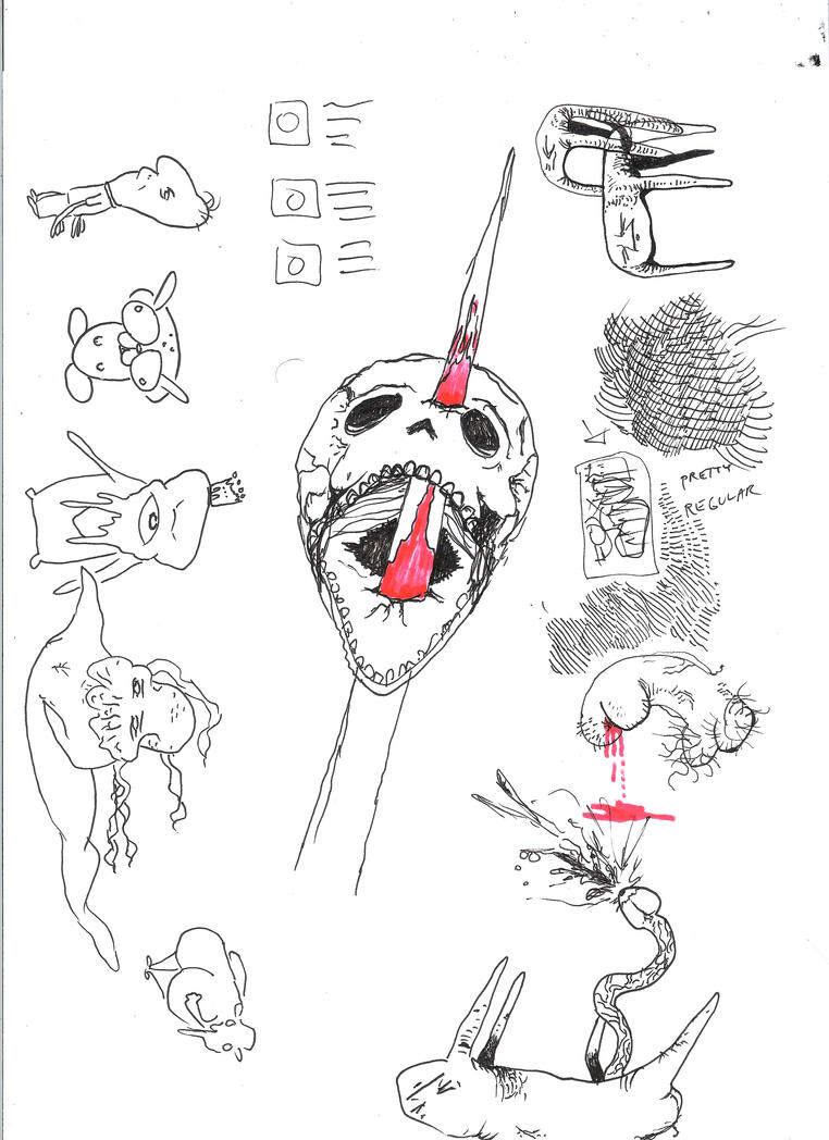 Exquisite Corpse w/ IP #1 by Whitsteen