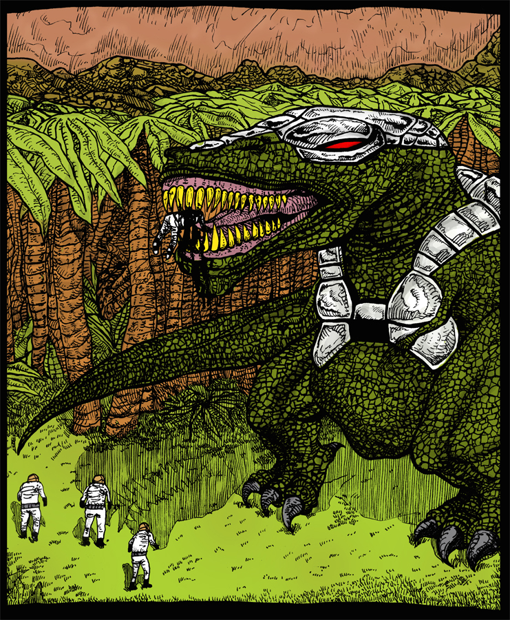 Cyber T-Rex by Whitsteen