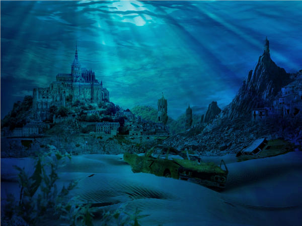 Real Underwater City underwater old ...