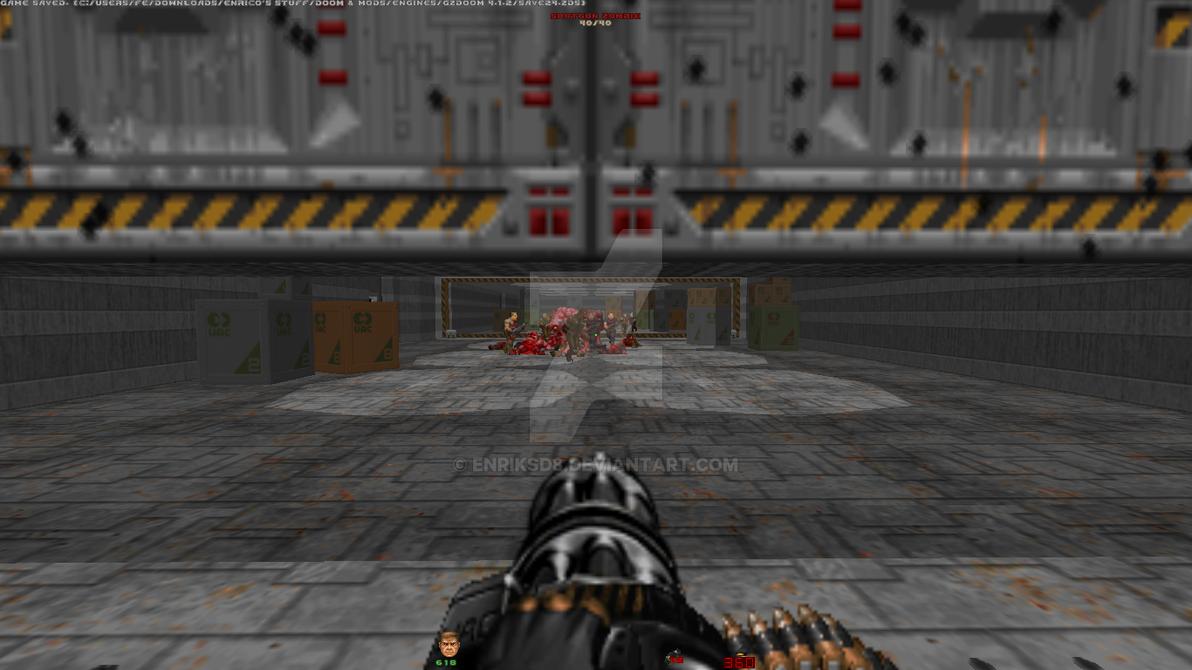 Touhou Doom with Brutal Doom, E1M1 (10) by EnriksD8 on DeviantArt