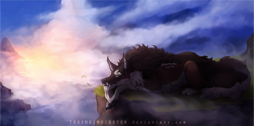 YCH | Mountainous Slumber by TheJokingJester
