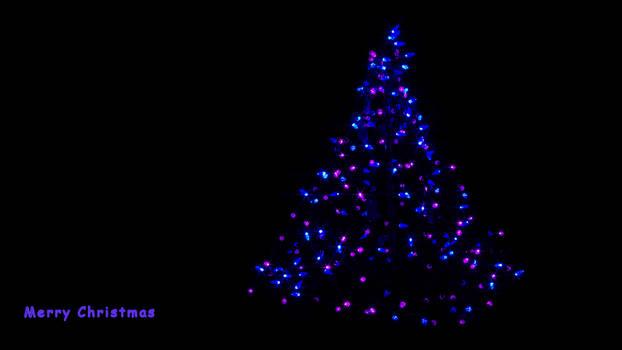 Xmas Lights in Blue