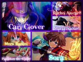 Carl, Sora, Rachel, Maria, Platinum and Meru