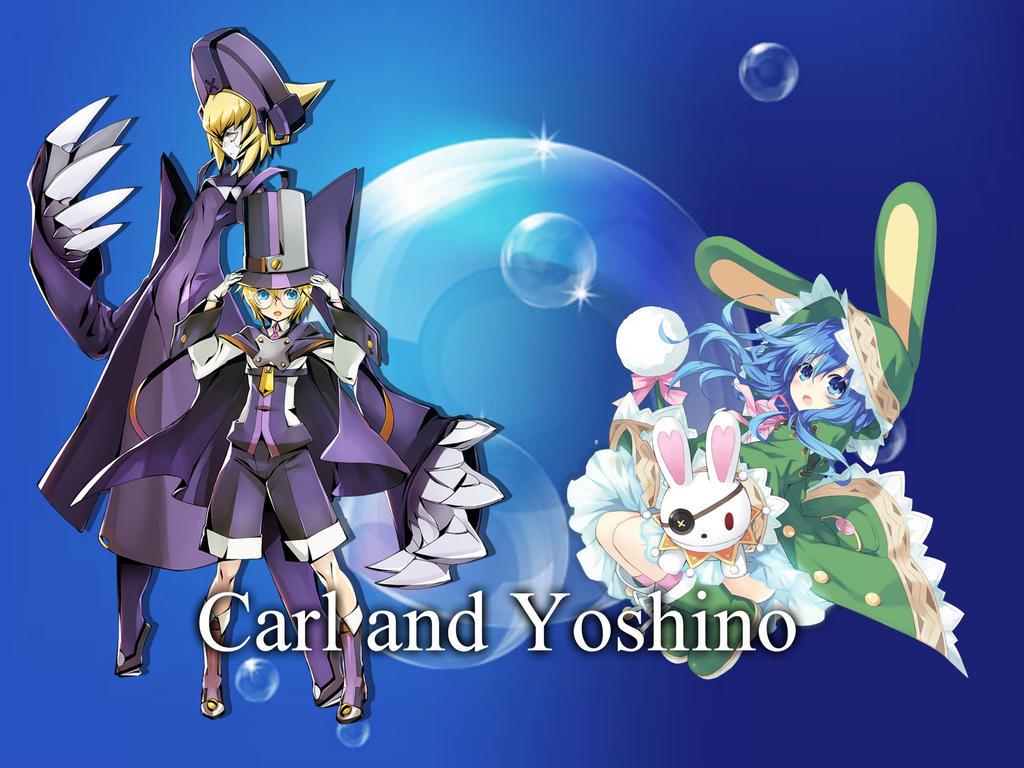 Carl Clover and Yoshino by Akane089