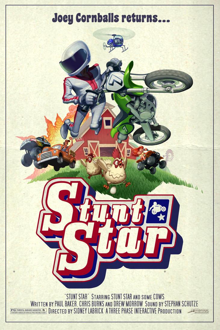 Stunt Star poster by DrewMorrow