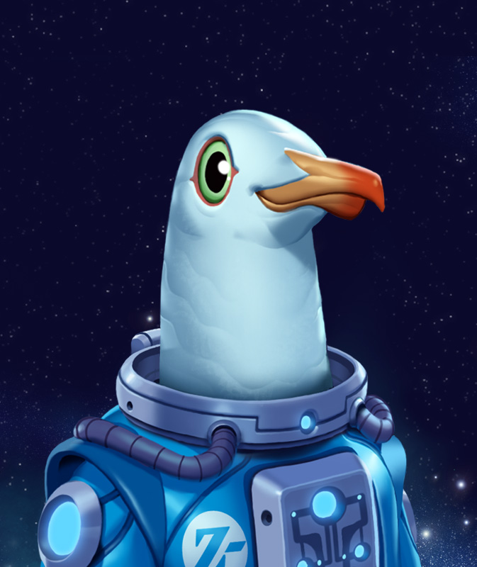 Zeke the Z-Cull Seagull by DrewMorrow