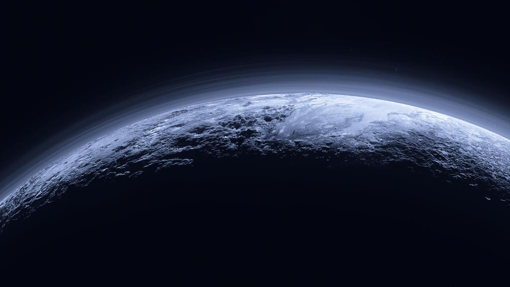 Pluto Rising by JoshDykgraaf