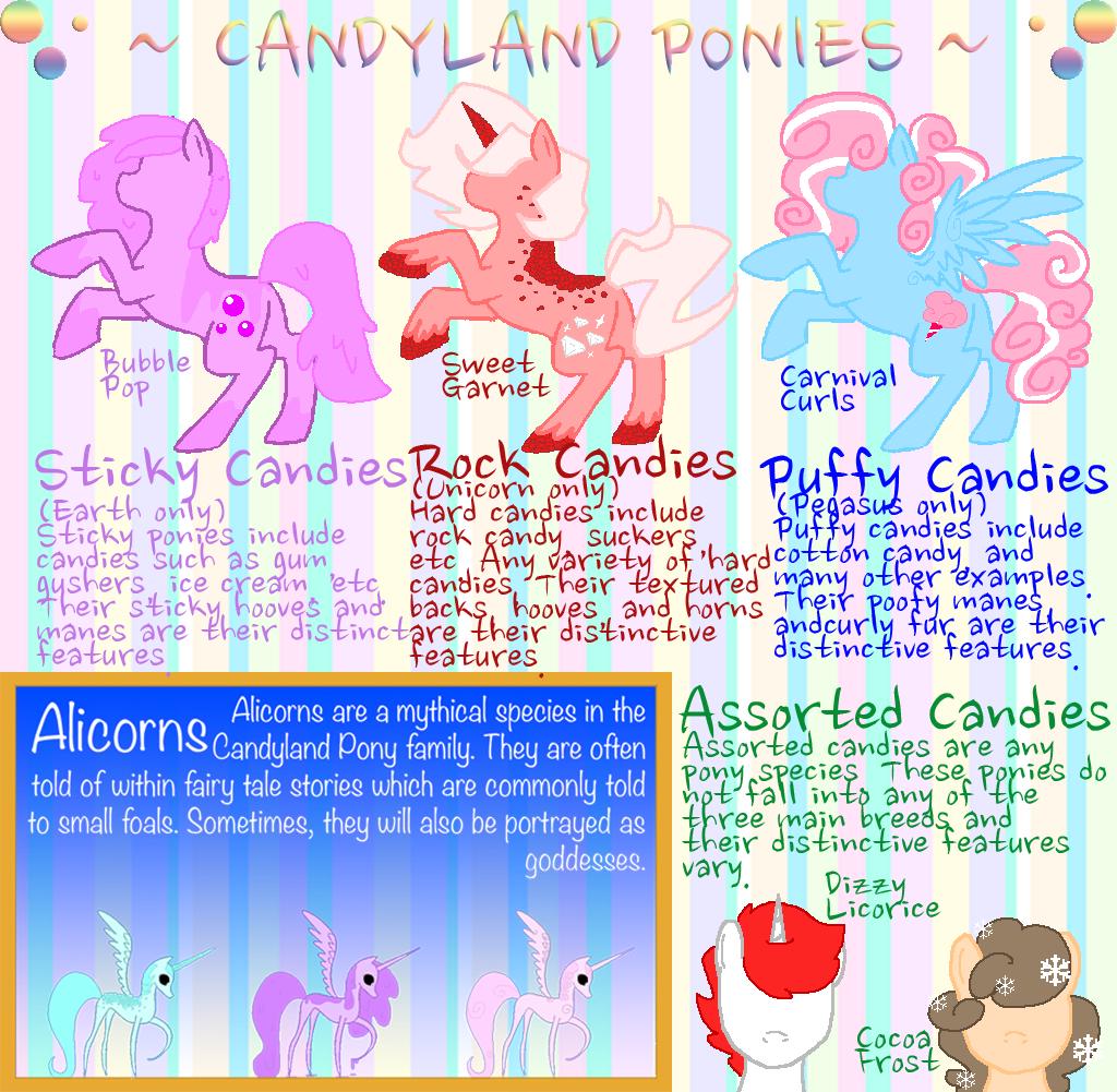 Candyland Ponies Refsheet by R-C-R