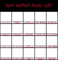 Your Horror Movie Cast meme by 300bulletproof