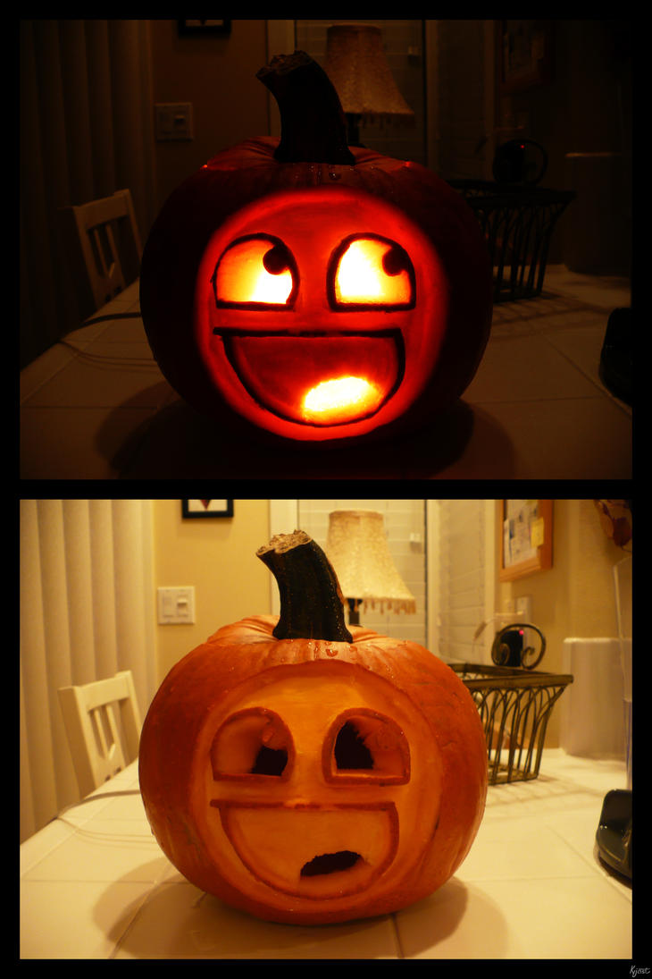 Awesome pumpkin by kyjast on deviantart for Funny pumpkin drawings