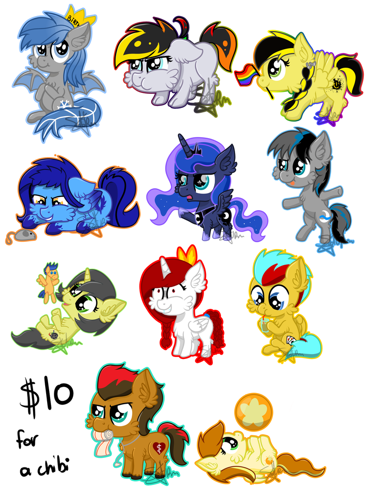 Chibi Commission Sheet by SaturnStar14