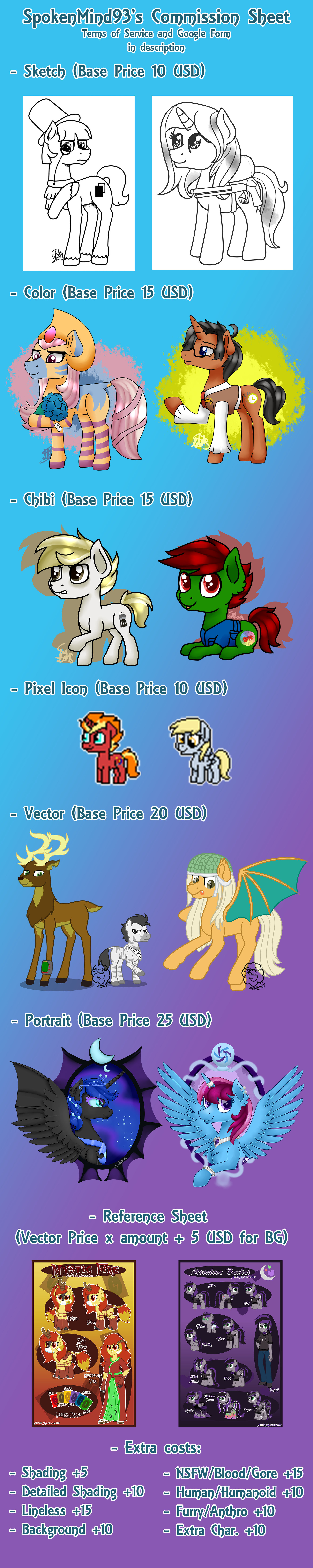 *OPEN* Commission Price Sheet 2020