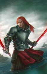 Crimson Warrior by XabiGazte
