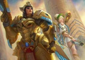 Winged Goddesses by XabiGazte