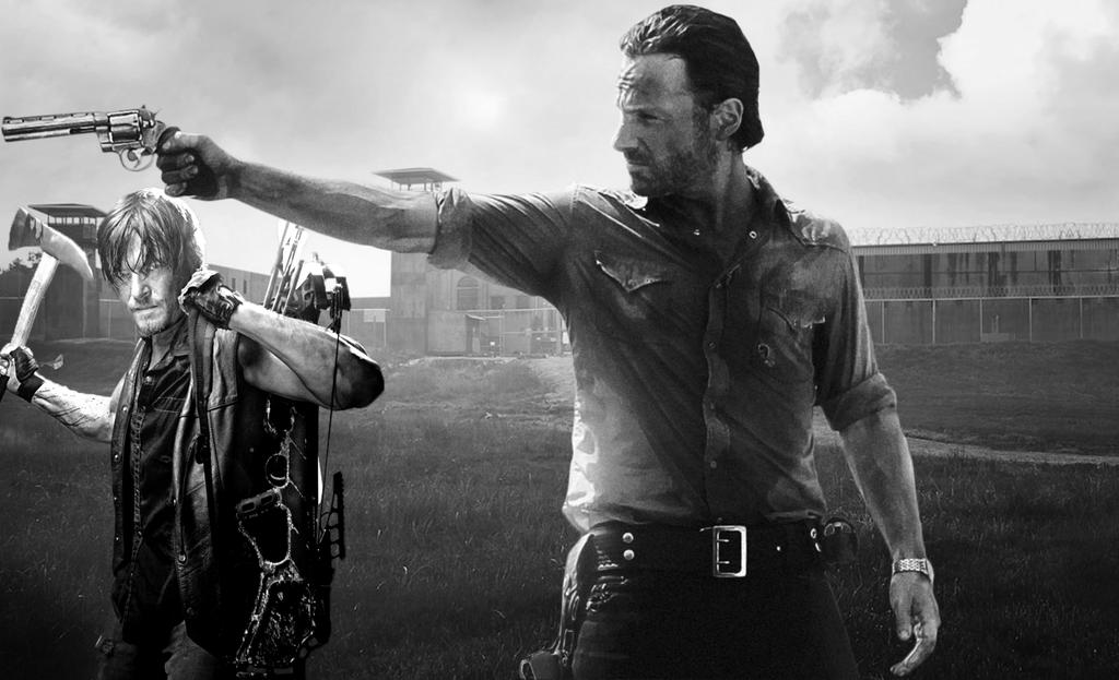 Rick Grimes and Daryl Dixon by ShadowVanHelsing