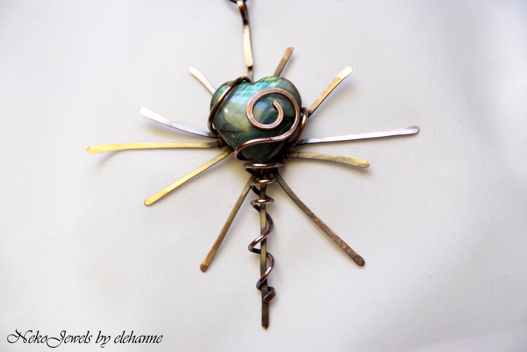 Labradorite and copper Passion by Elehanne