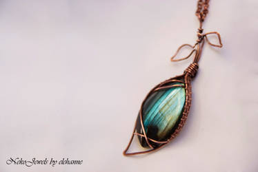 A blue leaf from the deep forest by Elehanne