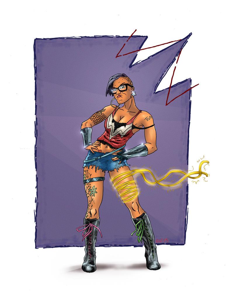 Punky Wonder Woman by GeekyWhiteGuy