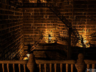 Shaft of Books by Pythang