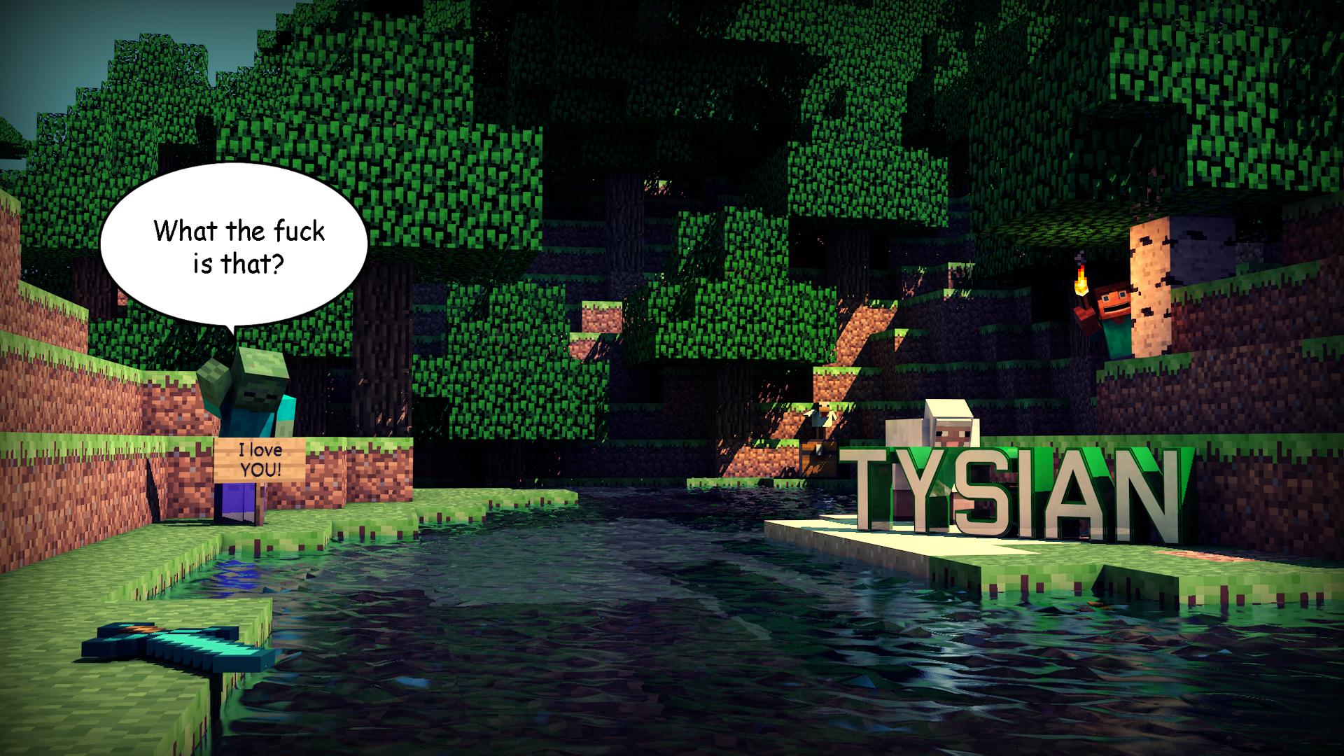Top Wallpaper Minecraft Art - minecraft_wallpaper_by_tysian-d6e68yr  Gallery_30685.jpg