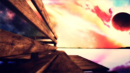 Wooden bridge by Tysian