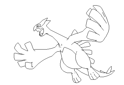 coloring pages lugia - photo#25