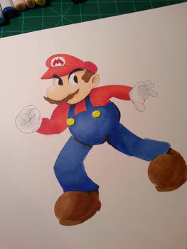 Mario, Copic Markers!
